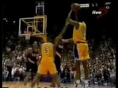 Los Angeles Lakers vs Portland Trailblazers (Eddie Jones vs Isiah Rider; Game 2. 1998 NBA Playoffs)