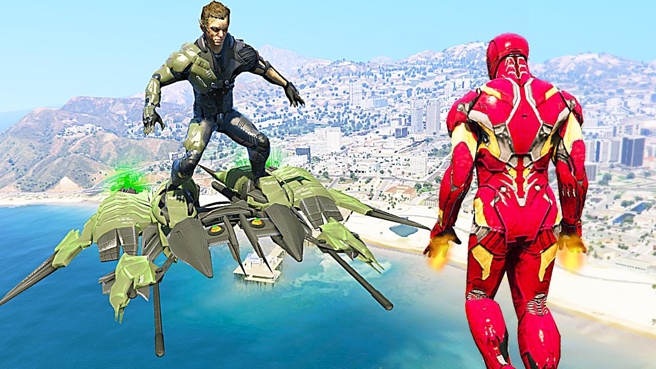 IRON MAN VS GREEN GOBLIN MOD for GTA 5