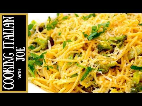 Pasta with Broccoli and Garlic Cooking Italian with Joe