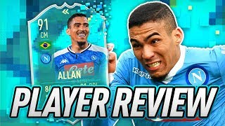 IS HE WORTH IT? 🤔 91 FLASHBACK ALLAN PLAYER REVIEW! - FIFA 20 Ultimate Team