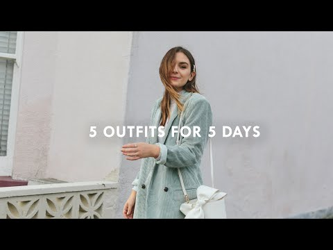 5 OUTFITS FOR 5 DAYS | What Olivia Did