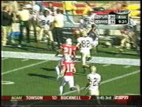 Purdue at Wisconsin 2003 - Orton to Standeford