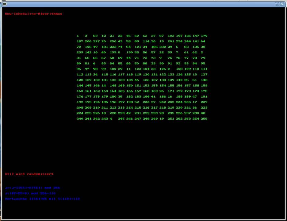 RC4 in C mit SDL Visualisierung