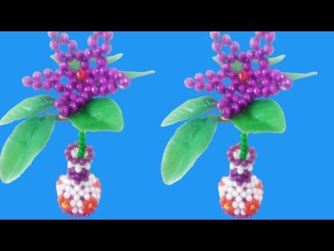 Download পুতির ফুল দানি / how to make beaded flower vase/ beaded vase