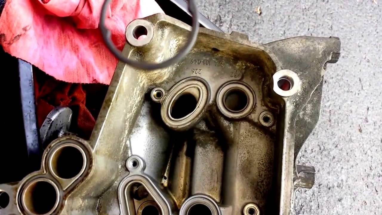 small resolution of 2002 audi v8 s6 avant oil cooler removal and service