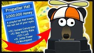 *NEW* 3 MILLION HONEY PROPELLER HAT BUFFS! | Roblox Bee Swarm Simulator