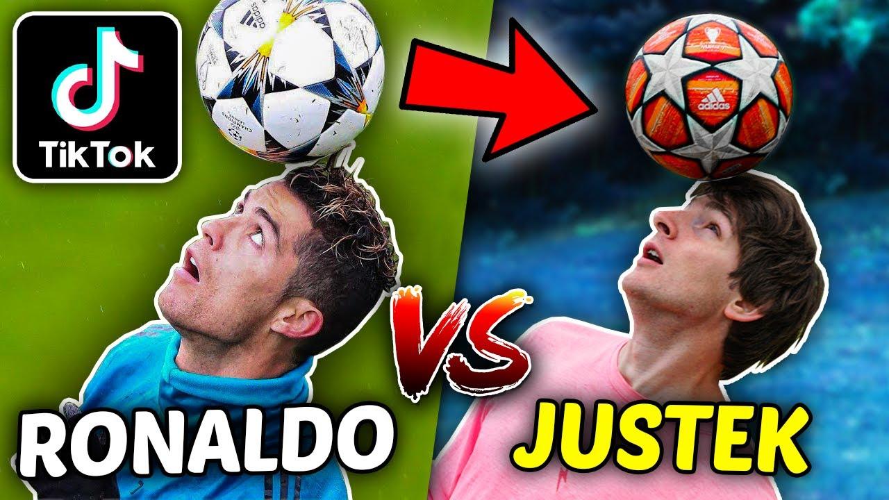 ODTWARZAM najpopularniejsze TikToki piłkarskie! 😂 RONALDO vs JUSTEK 🔥