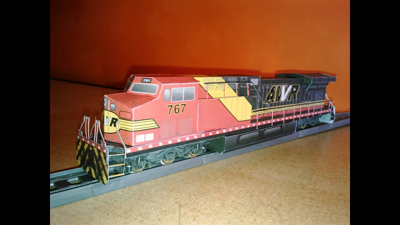 Papercraft AWVR #767 Locomotive Paper Model