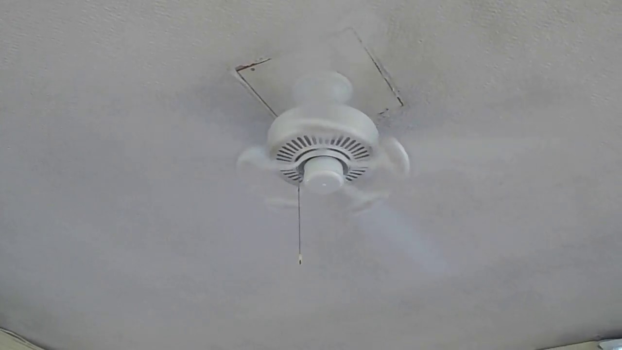"High School 52"" White Hampton Bay Farmington Ceiling Fan"