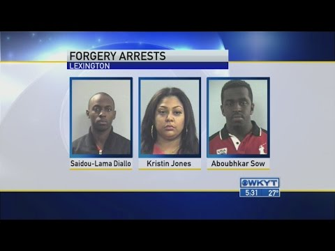 Forgery arrests
