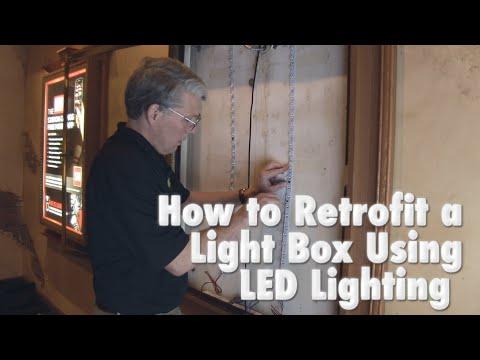 how to retrofit a light box using led lighting