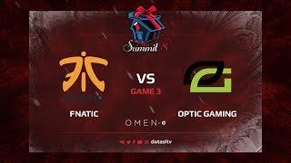 Fnatic против Optic Gaming, Третья карта, Групповой Этап Dota Summit 8