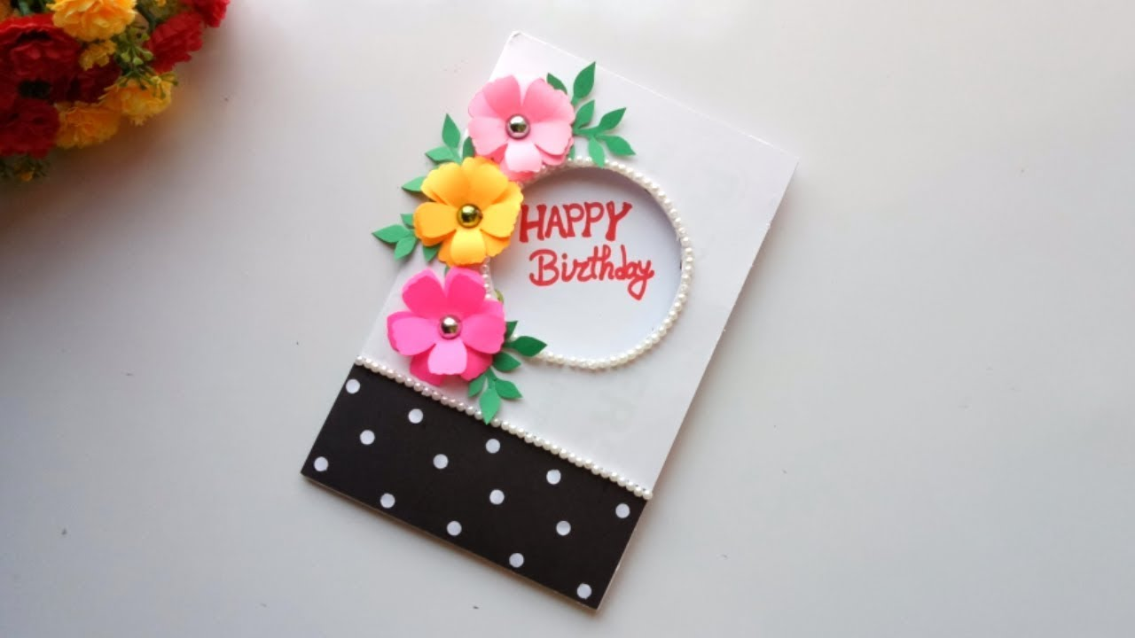 Beautiful Handmade Birthday Card idea -DIY GREETING cards ...