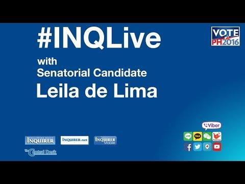 #INQLive with Leila de Lima
