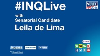 #INQLive with Leila de Lima