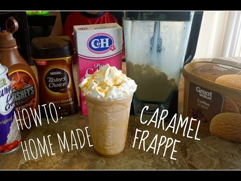 Howto Easy Home Made Caramel Frappe Youtube