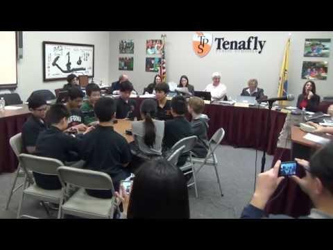 Tenafly Middle School Quiz Bowl - BOE Meeting