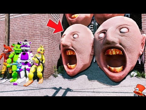 CAN THE ANIMATRONICS DEFEAT THE GIANT GRANNY HEAD ARMY? (GTA 5 Mods Kids FNAF RedHatter)