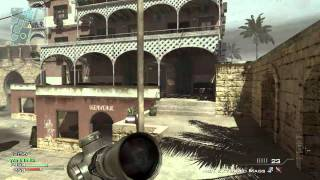MW3; Seatown; nice quickscopes; last kill slowed down