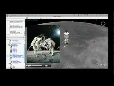 Moon in Google Earth - Demo at Newseum