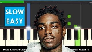 Kodak Black ZEZE ft Travis Scott & Offset Very Easy Slow Piano Tutorial - Notes
