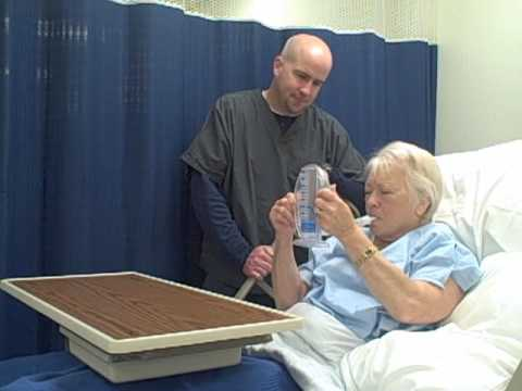 How To Use An Incentive Spirometer Youtube