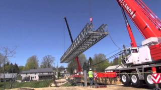 Easthampton - Pedestrian Bridge Installation 5-1-13 Manhan Bridge - Massdot - Northern Construction