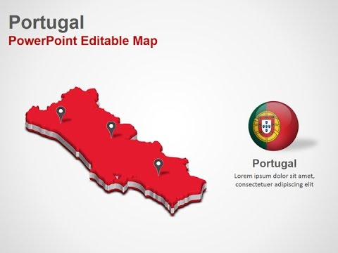 power point mapa portugal Portugal PowerPoint Map Slides   DigitalOfficePro #028M00   YouTube power point mapa portugal