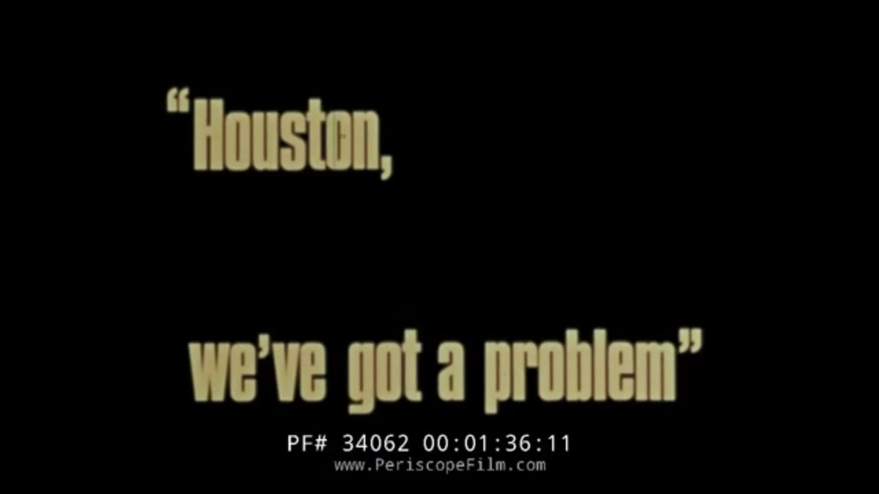 "HISTORIC NASA FILM APOLLO 13 ""HOUSTON WE HAVE A PROBLEM ..."