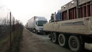Greva transportatorilor rutieri la Turda