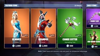 NOUVEAU GLIMMER SKIN! Fortnite Item Shop 24 décembre! Fortnite Battle Royale Item Shop 24/12/18