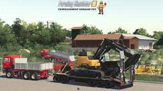 Terrassement Hangar PDT | Farming Simulator 19 #Partie1