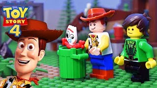 LEGO Toy Story 4 • Forky Escape From Woody • LuckyCleverToys #1