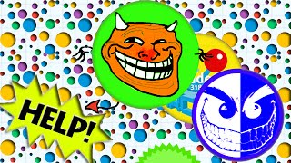 AGARIO FROM HERO TO ZERO EXPERIMENTAL MODE Agar.io Funny Moments!