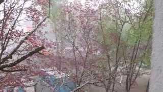 Снег 7 мая 2014 в Москве Перово MVI 2910