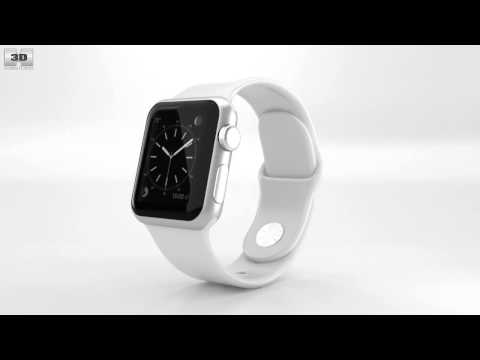 apple-watch-sport-38mm-silver-aluminum-case-white-sport-band-by-3d-model-store-humster3d.com