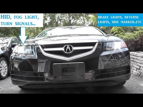 Acura TL How To Replace All Exterior Lights and Bulbs