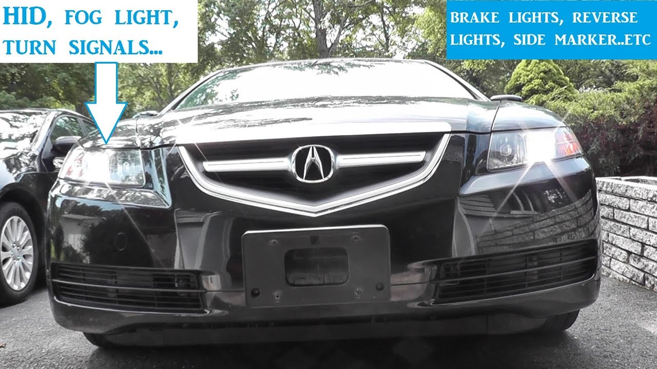 How To Replace All Exterior Lights And Bulbs Acura Tl Youtube