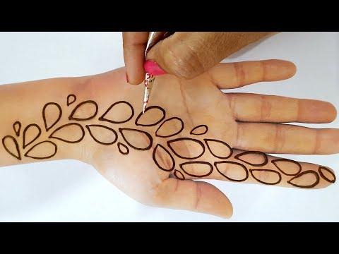 Easy Mehndi Tricks - New Mehndi Design for Hands 2019 - किसी भी तीज,त्यौहार लगाएं ये मेहँदी