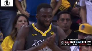 Draymond Green is TRASH ! Highlight Dunks  Warriors vs Rockets 22May2018 Game#4