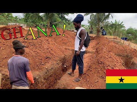 I Bought LAND in GHANA WEST AFRICA and NOW building a HOME ON IT! (Episode 3!)