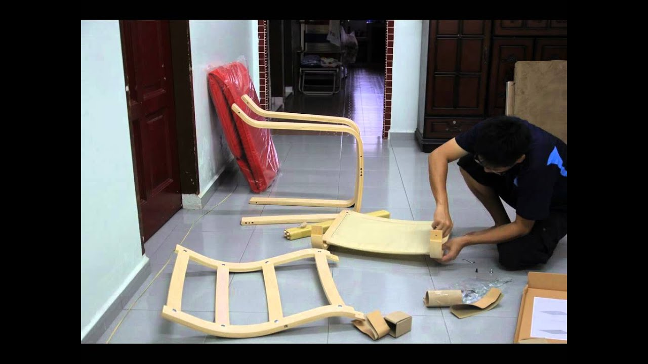 IKEA POANG ARMCHAIR   YouTube