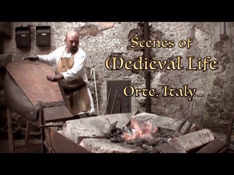 Scenes of Medieval Life - ORTE, Italy Medieval Festival
