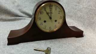Seth Thomas Lynton 2w Chiming Tambour Mantel Clock