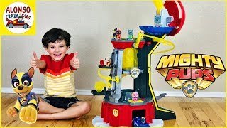 Paw Patrol Mighty Pups new Mighty Lookout Tower for kids