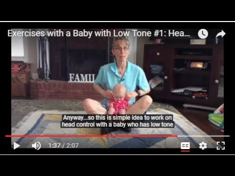 Exercises For A Baby With Low Tone #1: Head Control In Sitting