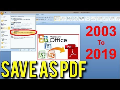 How To Save A Word Document As PDF (MS Word 2003 To 2019, DOC To PDF)