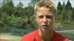 Tennis Supertalent Rudi Molleker (13 Jahre, Deutschland)