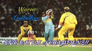 Sachin Tendulkar vs Shane Warne : RELIVE THE EPIC BATTLE OF CHAMPIONS!!! thumbnail
