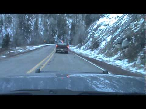 Driving into The Taos Ski Valley